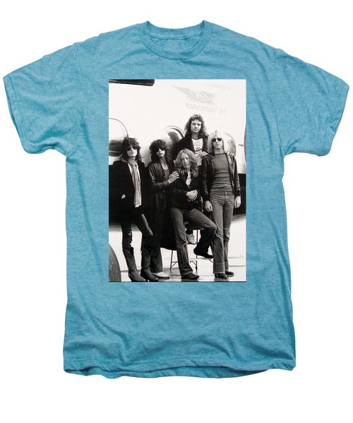 Aerosmith - Eurofest Jet 1977 Men's Premium T-Shirt by Epic Rights