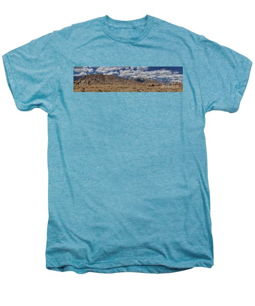 Alabama Hills And Eastern Sierra Nevada Mountains Men's Premium T-Shirt by Peggy Hughes