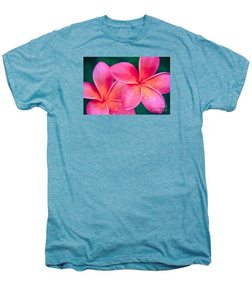 Aloha Hawaii Kalama O Nei Pink Tropical Plumeria Men's Premium T-Shirt by Sharon Mau