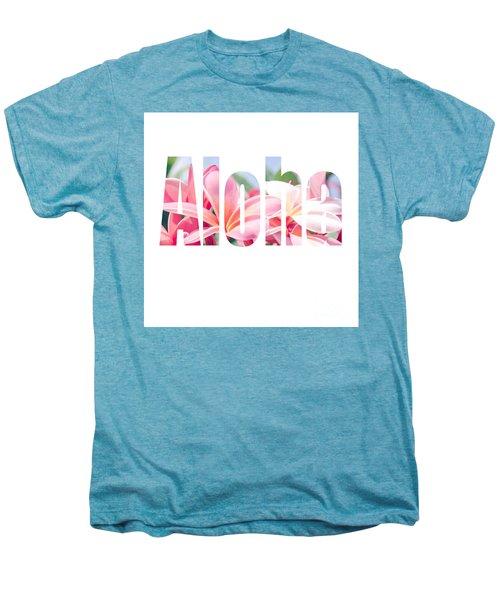 Aloha Tropical Plumeria Typography Men's Premium T-Shirt