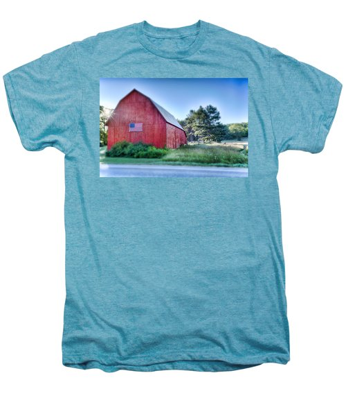 Men's Premium T-Shirt featuring the photograph American Barn by Sebastian Musial
