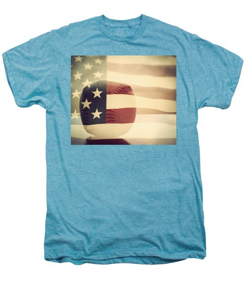 Americana Baseball  Men's Premium T-Shirt