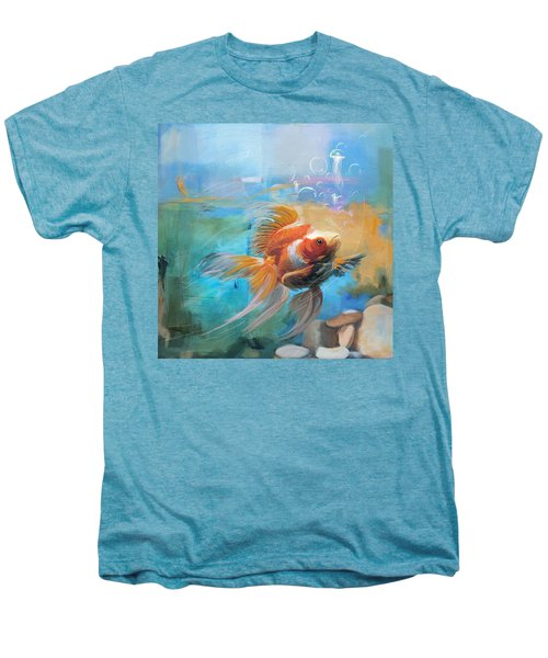 Aqua Gold Men's Premium T-Shirt by Catf