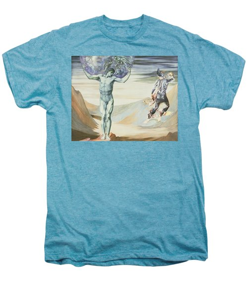 Atlas Turned To Stone, C.1876 Men's Premium T-Shirt by Sir Edward Coley Burne-Jones