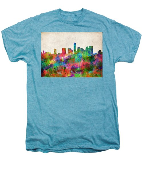 Austin Texas Abstract Panorama 4 Men's Premium T-Shirt