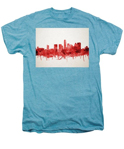 Austin Texas Skyline Watercolor 4 Men's Premium T-Shirt