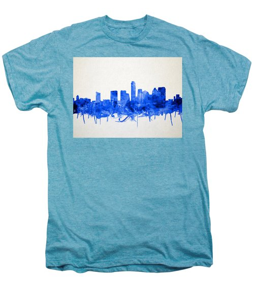 Austin Texas Skyline Watercolor 5 Men's Premium T-Shirt