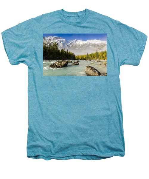 Autumns Colors Contrast With Winters Men's Premium T-Shirt by Ray Bulson
