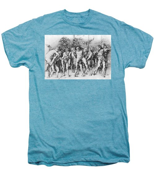 Bacchanal With Silenus - Albrecht Durer Men's Premium T-Shirt by Daniel Hagerman