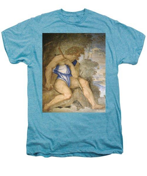 Baldassare Peruzzi 1481-1536. Italian Architect And Painter. Villa Farnesina. Polyphemus. Rome Men's Premium T-Shirt by Baldassarre Peruzzi