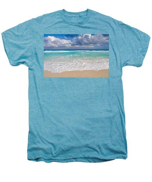 Beautiful Beach Ocean In Cancun Mexico Men's Premium T-Shirt