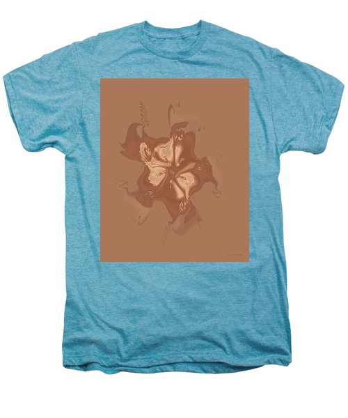 Beige Satin Morning Glory Men's Premium T-Shirt