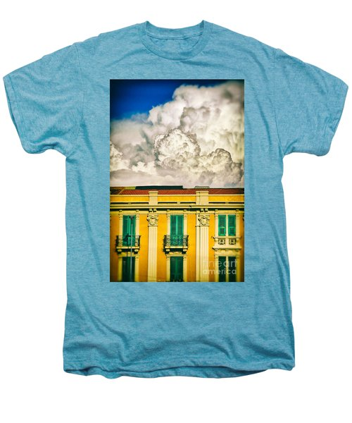 Men's Premium T-Shirt featuring the photograph Big Cloud Over City Building by Silvia Ganora