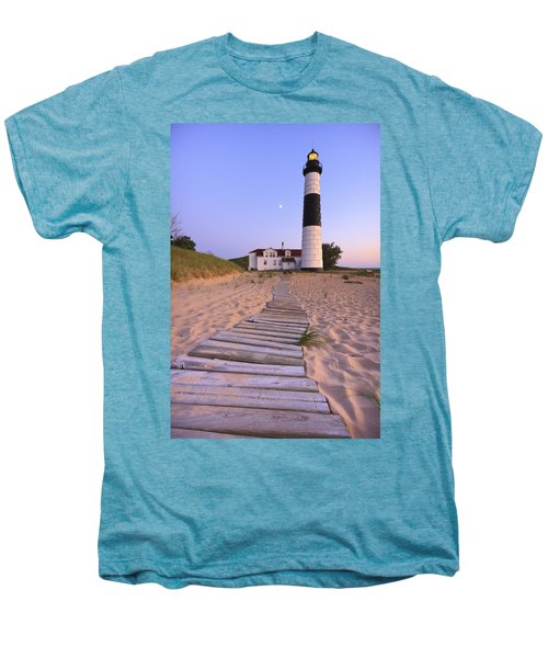 Big Sable Point Lighthouse Men's Premium T-Shirt by Adam Romanowicz