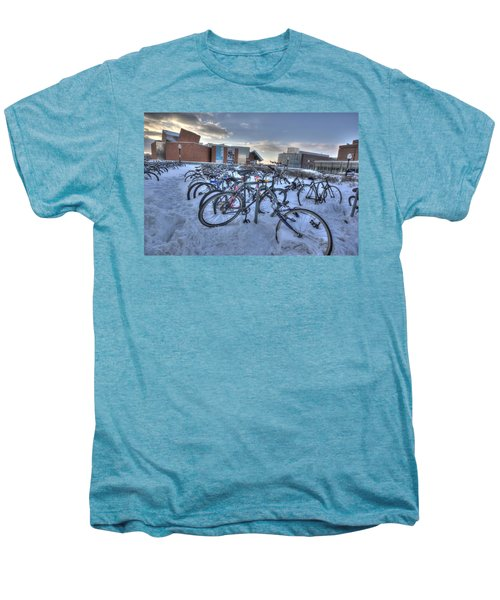 Bikes At University Of Minnesota  Men's Premium T-Shirt by Amanda Stadther