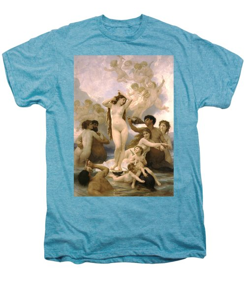 Birth Of Venus Men's Premium T-Shirt by William Bouguereau