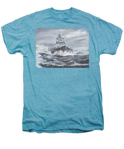 Bismarck Off Greenland Coast  Men's Premium T-Shirt by Vincent Alexander Booth