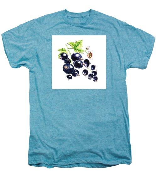 Men's Premium T-Shirt featuring the painting Blackcurrant Berries  by Irina Sztukowski