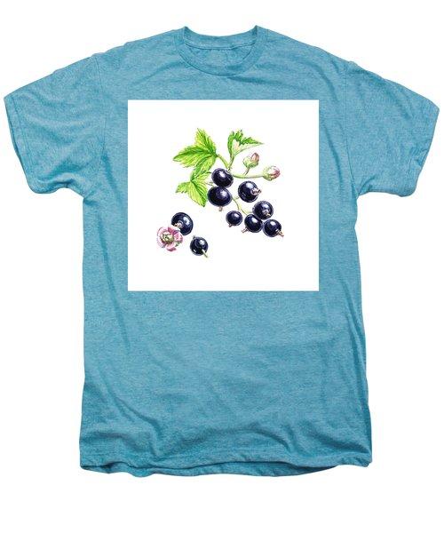 Men's Premium T-Shirt featuring the painting Blackcurrant Botanical Study by Irina Sztukowski