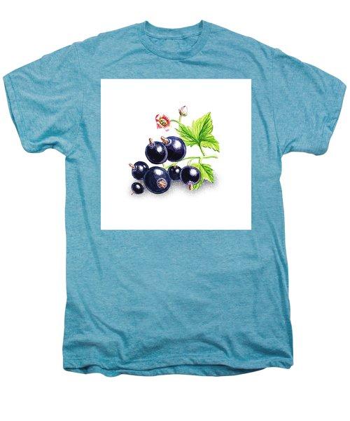 Men's Premium T-Shirt featuring the painting Blackcurrant Still Life by Irina Sztukowski