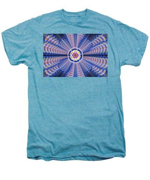 Blue Crystal Consciousness Men's Premium T-Shirt by Derek Gedney