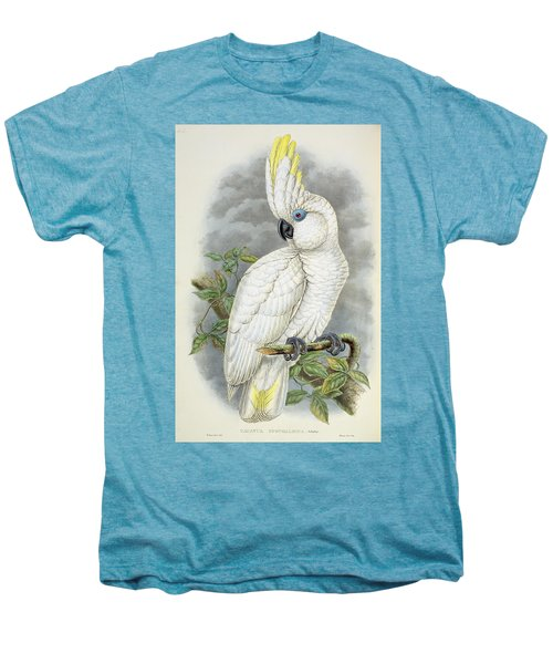 Blue-eyed Cockatoo Men's Premium T-Shirt by William Hart