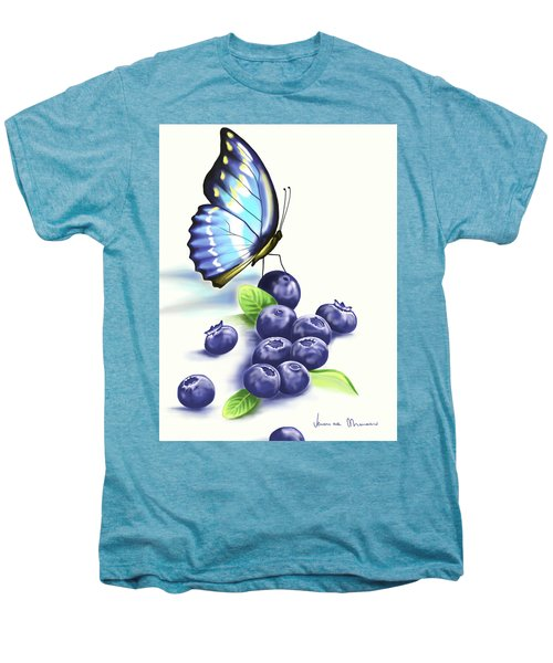 Blueberries And Butterfly Men's Premium T-Shirt