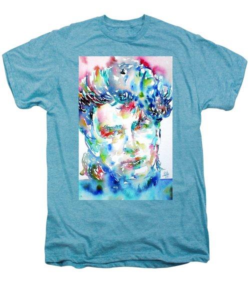 Bono Watercolor Portrait.1 Men's Premium T-Shirt by Fabrizio Cassetta