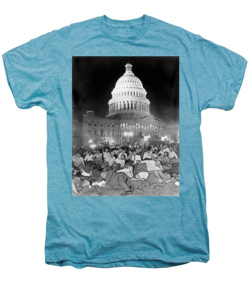 Bonus Army Sleeps At Capitol Men's Premium T-Shirt by Underwood Archives