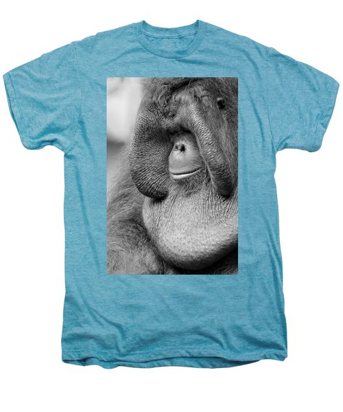 Bornean Orangutan V Men's Premium T-Shirt by Lourry Legarde