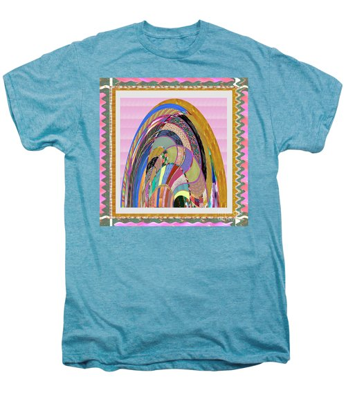 Bride In Layers Of Veils Accidental Discovery From Graphic Abstracts Made From Crystal Healing Stone Men's Premium T-Shirt