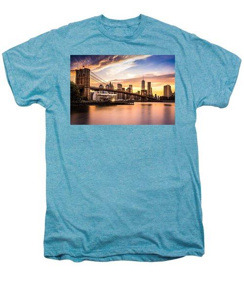 Brooklyn Bridge At Sunset  Men's Premium T-Shirt