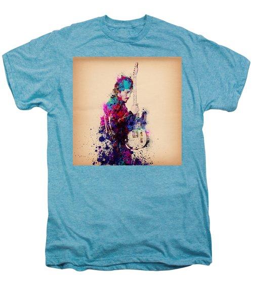 Bruce Springsteen Splats And Guitar Men's Premium T-Shirt by Bekim Art