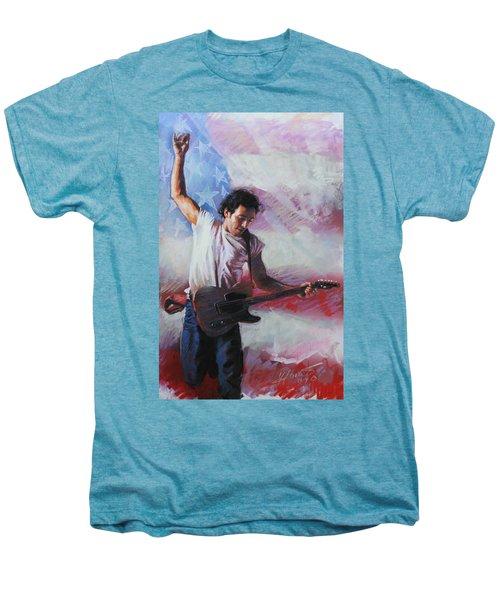 Bruce Springsteen The Boss Men's Premium T-Shirt by Viola El