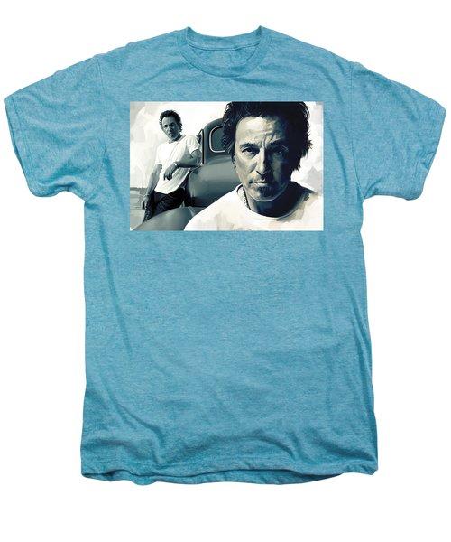 Bruce Springsteen The Boss Artwork 1 Men's Premium T-Shirt by Sheraz A