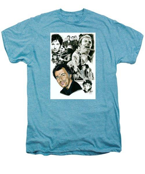 Bruce Springsteen Through The Years Men's Premium T-Shirt by Ken Branch