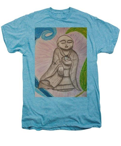 Buddha And The Eye Of The World Men's Premium T-Shirt