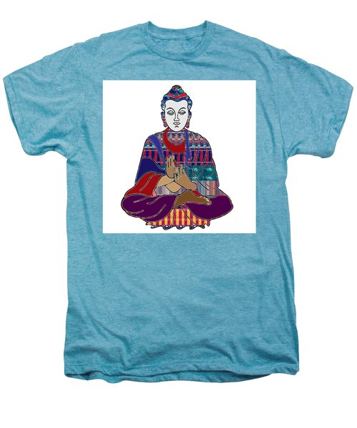 Buddha In Meditation Buddhism Master Teacher Spiritual Guru By Navinjoshi At Fineartamerica.com Men's Premium T-Shirt by Navin Joshi