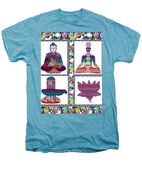 Buddha Yoga Chakra Lotus Shivalinga Meditation Navin Joshi Rights Managed Images Graphic Design Is A Men's Premium T-Shirt