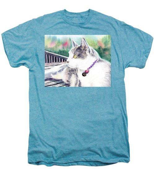 Cat Men's Premium T-Shirt by Irina Sztukowski