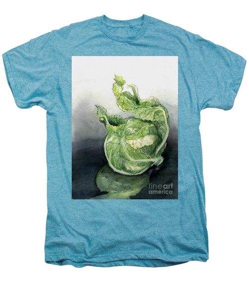 Cauliflower In Reflection Men's Premium T-Shirt by Maria Hunt