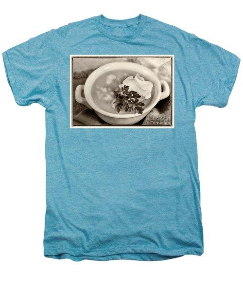 Cauliflower Soup Sepia Tone Men's Premium T-Shirt by Iris Richardson