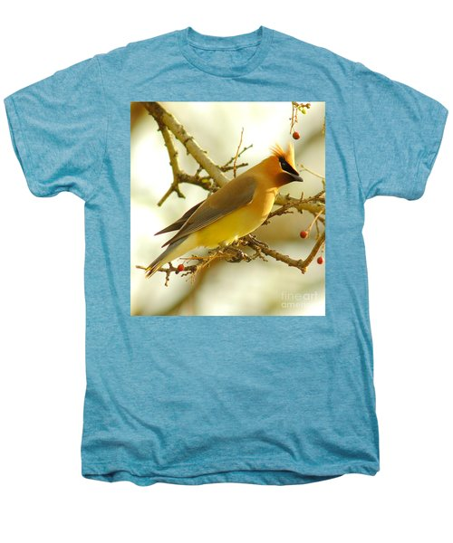 Cedar Waxwing Men's Premium T-Shirt by Robert Frederick