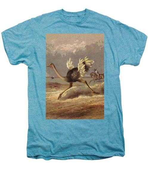 Chasing The Ostrich Men's Premium T-Shirt by English School