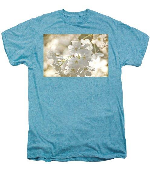 Cherry Blossoms Men's Premium T-Shirt by Peggy Hughes