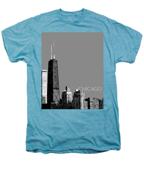 Chicago Hancock Building - Pewter Men's Premium T-Shirt