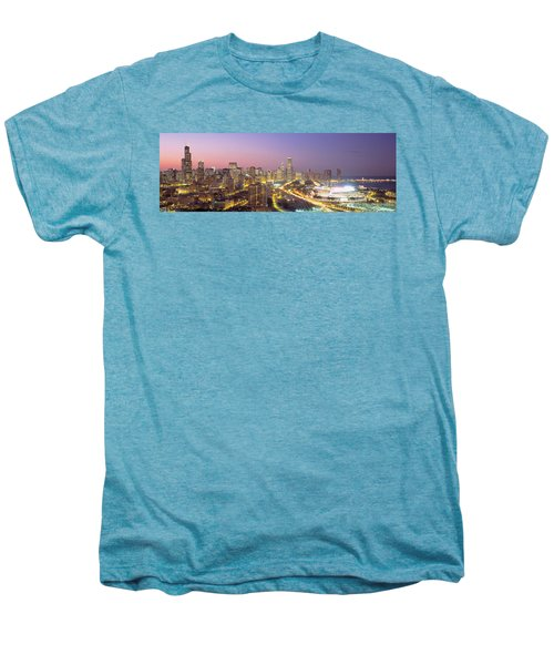 Chicago, Illinois, Usa Men's Premium T-Shirt by Panoramic Images