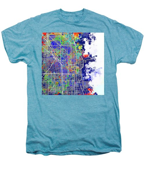 Chicago Map Color Splash Men's Premium T-Shirt