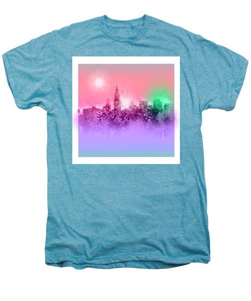 Chicago Skyline Abstract 3 Men's Premium T-Shirt