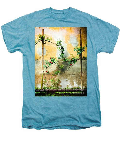 Men's Premium T-Shirt featuring the photograph Climbing Rose Plant by Silvia Ganora